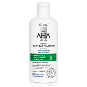 Skin AHA Clinic Soft Washing Foam with AHA Acids Anti Black Spots BELITA